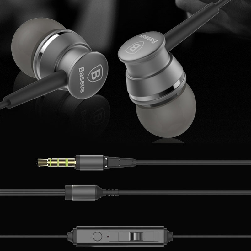 New Earphone with Mic Dual for Mobile Phone Running Stereo Earpiece for xiaomi mi5s 3.5mm Aux Connector Auriculares