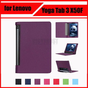 3 in 1 Luxury Litchi Pattern PU Leather Case Cover for Lenovo Yoga Tab 3 10 X50L X50F YT3-X50F 10.1 + Screen Protector + Stylus