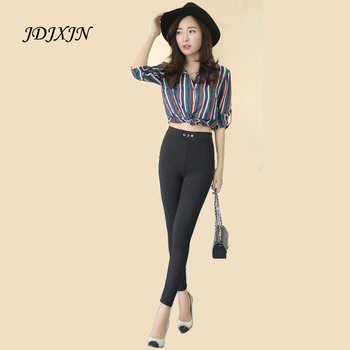 Hot New 2016 Plus Size Elastic Waist Slim Stretch Pant Trousers Women Fashion High Waisted Pencil Pants Large Size S-3XL JN883