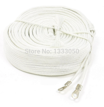 220V Insulated Double Way White Glass Fiber Band Heating Heater 2Meters 220W/1M 100W/ 3M 300W/4M 400W/5M 500W/6M 600W/8M 800W