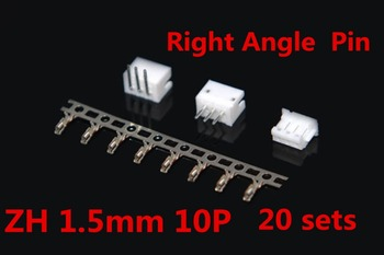 JST ZH 1.5mm 10-Pin Right Angle Pin Male, Female Connector socket with crimps 20 Sets