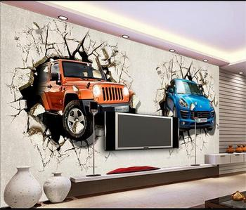 3D wallpaper/custom photo wall paper/Burst through wall luxury car/Bed room/Children room/KTV/Hotel/living room