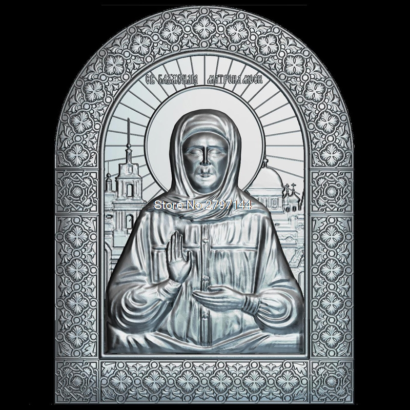 New 3D model for cnc Icon of St. Matrona 3D carved figure sculpture machine in STL file Religion