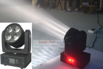 LED Moving Head Wash Light 4x20W RGBW Quad Color 80W DMX Stage Beam Spot Effect Lights with advanced 9/15 channels