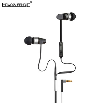 Edwo ES-12HI Stereo Wired Earphone Voice control With Microphone Sport Noise Cancelling Headset For iPhone 7 Samsung Xiaomi LG