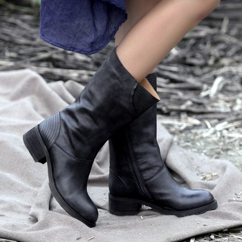 Sougen 2016 New Winter Full Genuine Leather Boots Women Wedges Cowhide Winter Boots Women Shoes Boots Vintage Women Autumn Boots