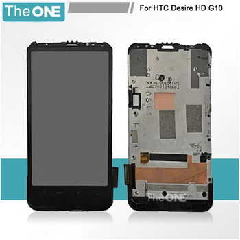 LCD Display & Digitizer touch Screen Glass FOR HTC Desire HD G10 A9191 with frame