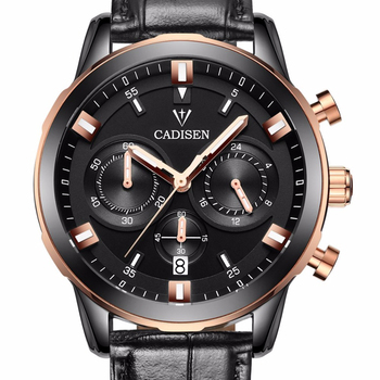 CADISEN Brand Men Watch Casual Sport Watches Men multifunction Business Quartz Wristwatches Waterproof relojes Men's watch clock