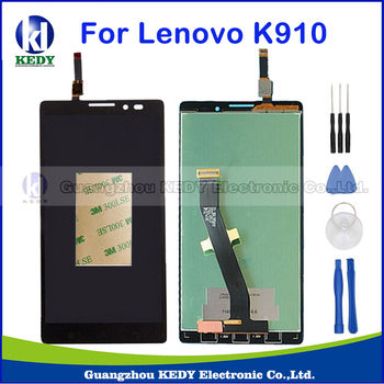 Black For Lenovo Vibe Z K910 New Original LCD Display Touch Screen with Digitizer Assembly Replacement Part+Tools