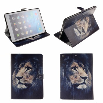 Case Cover For Apple iPad Air 2/iPad 7 6 5 4 3 2 Lion PU Leather Flip Smart Stand Cover for iPad mini 4 iPad 2 3 4 #1
