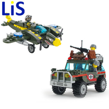 Lis Bevle Enlighten 1707 Military Series Fighter War Air Strikes Building Block Compatible With LEPIN Kids ToysEducational Toys