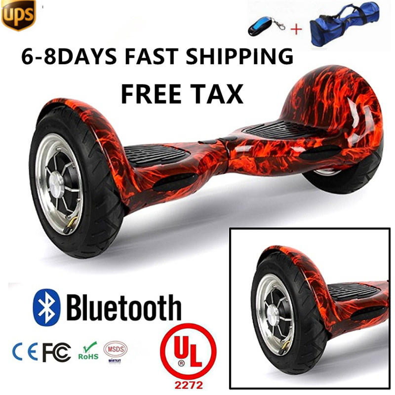 2017 350W 4.4ah 10 Inch Hoverboard Hover Board with Bluetooth Music