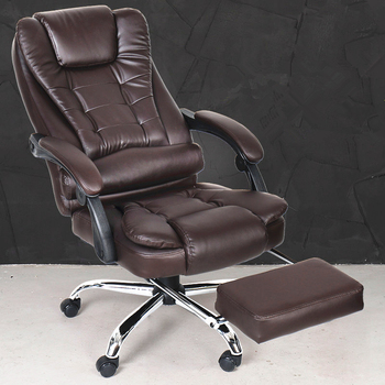 Super Soft Leisure Lying Office Chair Swivel Lifting Boss Chair Fashion Household Computer Chair With Footrest