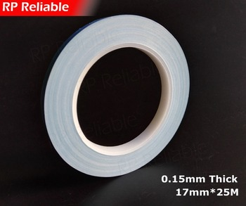 1x 17mm*20M*0.15mm RP Thermal Transfer Fiber Glass 2 Sides Sticky Tape for LED Module, Thermal Pads, PCB Heat Sink Cool Bond