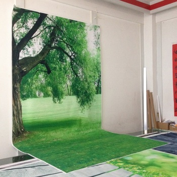 Art fabric photography backdrops photo studio photographic background for children green grass backdrop D-662