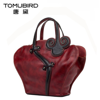 2016 New women genuine leather bag brands top quality cowhide national wind fashion luxury women leather handbags bag