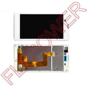 For Sony Xperia T3 m50w D5102 D5103 D5106 LCD Display with Touch Digitizer + Frame Assembly by , white