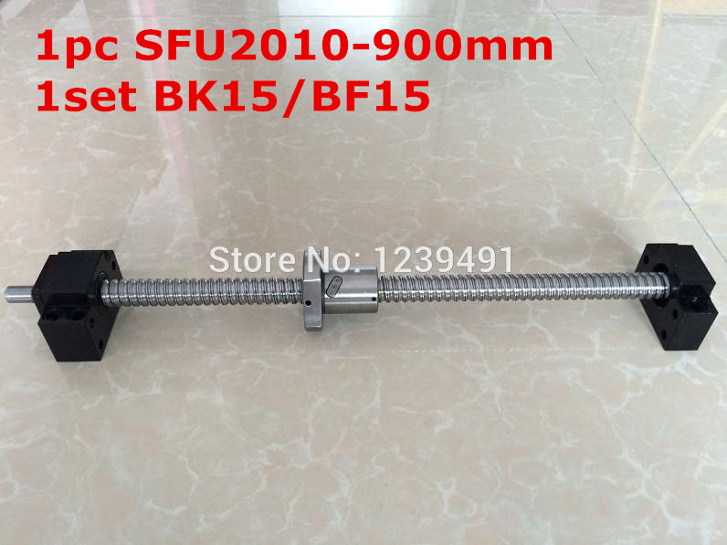 SFU2010- 900mm ballscrew with end machined + BK/BF15 Support CNC parts