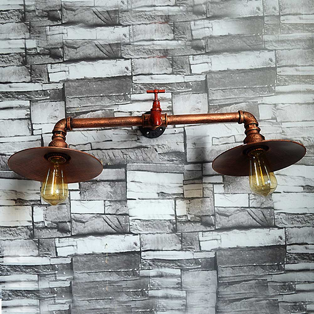 Retro Iron Industrial Water Pipe Vintage Loft Wall Lamp Sconce Creative Beside Lamps E27 Edison Home Light Fixture
