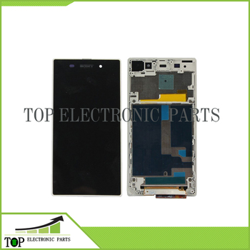 For Z1 LCD screen display+Digitizer Assembly with Frame White for  C6902 C6903