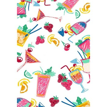 Fleece children graffiti fruit and cup photography backdrop for photo sdio photographic backgrounds props S-1265-A