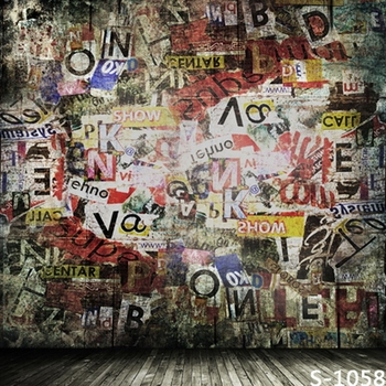 6.5x10ft Color graffiti art wall photography backdrops vinyl digital photographic backgrounds for photo studio backdrop S-1058