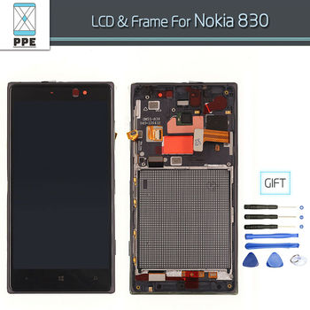 Original Replacement For Nokia Lumia 830 LCD display with Touch screen Digitizer Assembly with frame+Tools