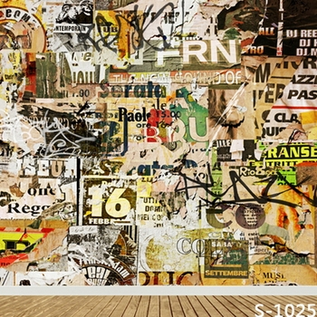 6.5x10ft graffiti wall photography backdrops wedding party photo studio background portrait photographic backgrounds S-1025