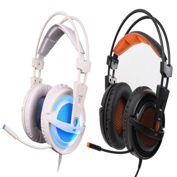 HL Sades A6 Stereo USB 7.1 Surround Pro Gaming Headphone w/Mic For PC Notebook Sept 7Levert Dropship