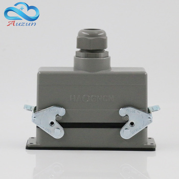 H16B - HE - 024-2 rectangular heavy air 24 pin connectors plug at the top of the line 16 a500v screw feet