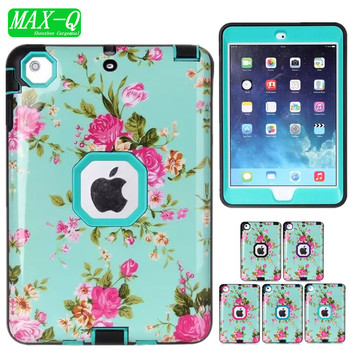 For Apple iPad mini 1/2/3 Case,Hybrid Protective High Impact Resistant Hard PC and TPU Outer Case for iPad MINI 1 2 3