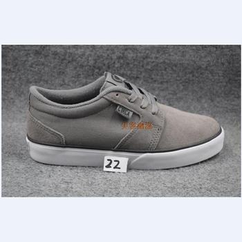 US5-13 BOY CIR CA gray and Brwon TEENAGER BOY Shoes Anti-Fur Dark Grey Lace-Up Rubber Shock-Absorbant teenager BOY Footwear