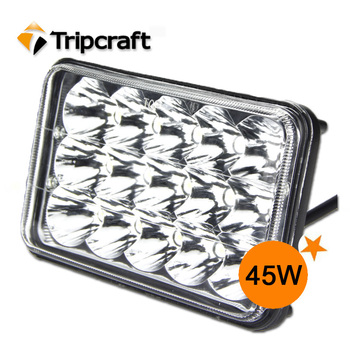 Super Bright!!! 2PCS 45W Square LED Working Light Lamp Fit Led Ramp car accessories Off Road 4WD 4x4 Truck SUV ATV Fog Light 10V