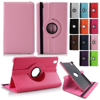 2017 NEW 360 Rotating Swivel PU Leather Cover Stand Case For Samsung Galaxy Tab Pro 8.4 T320 T321 T325 protective film +Stylus