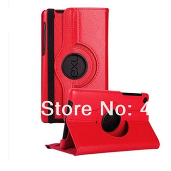 Fashion 360 Degree Rotating PU Leather Smart Stand Cover Case for Google Nexus 7 ii 2013 Case+screen film+stylus pen