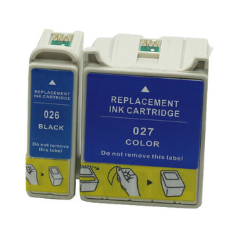 2pcs/Set T026 T027 Ink Cartridge For Epson Stylus C50 Stylus Photo 810 820 830 830U 925 935