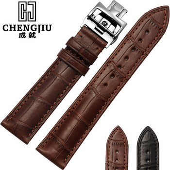 19 20 21 22mm Crocodile Leather Strap For Vacheron Constantin/Melisa/Longines Watchband Wrist Bracelet Montre Band Men Butterfly