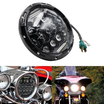 7 Inch Round LED Headlight High Low Beam Daymaker Style Projection lens For Harley Davidson Yamaha Road Star V Star Motorcycle