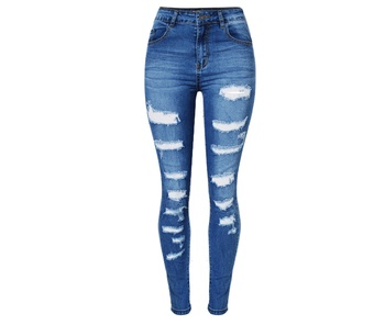 Retro Stretchripped Jeans For Women Fashion Slim Fit Skinny Women Pencil Pants Cave Plus Size Denim Trousers Clothing For Ladie