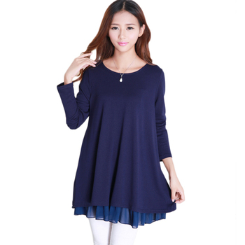 Loose Maternity Bottoming Shirt plus size Slim casual Long Sleeve Maternity Tops  Autumn Casual Pregnancy Blouses new