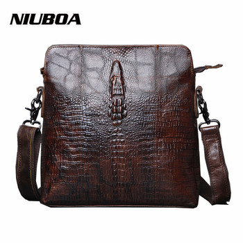 Business Men Genuine Leather Bag Natural Cowskin Men Messenger Bags Vintage Men's Real Leather Shoulder Crossbody Bag