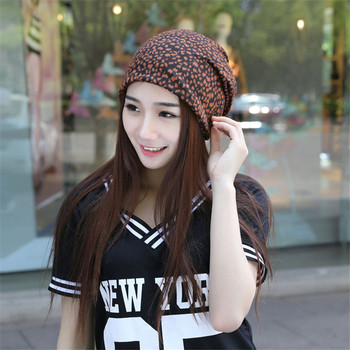 Spring and Summer Hat tide Ms. leopard Scarf Cap sleeve head cap Cap month of Baotou Hedging Hat Skullies M110