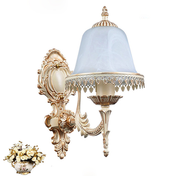 E27 frosted glass lamp shade wall lamp led Single head industrial retro sconce loft home lighting lamps bedroom bedside lightt