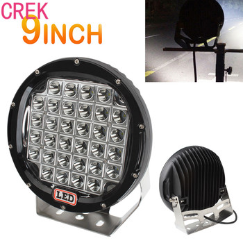 CREK 9inch Rounded 32xLED 320W 10~30V Car Worklight Spot / Flood Light Vehicle Driving Lights for Offroad SUV / ATV / Truck