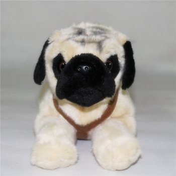 Cute Plush Big Toy Pugs Dolls Stuffed Animals Toys Emulation Lying Dog Gift