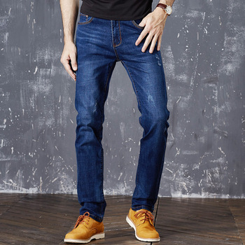 2017 Spring And Summer Mens Stretch Jeans Elastic Straight Denim Jeans Plus Size 40 42 Latest Design