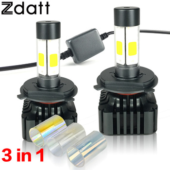 2Pcs Super Bright 120W 12000LM H4 Led Bulb H7 H8 H11 9005 HB3 Headlight Car Led Light Hi Lo Beam 12V Fog Light Automobile