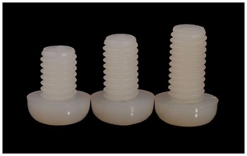 Nylon screws round head screws M2 M3 M4 M5 white Plastic screws GB818-85 PM screws