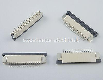 50 Pcs FPC FFC 1mm Pitch 16 Pin Drawer Type Ribbon Flat Connector Bottom Contact