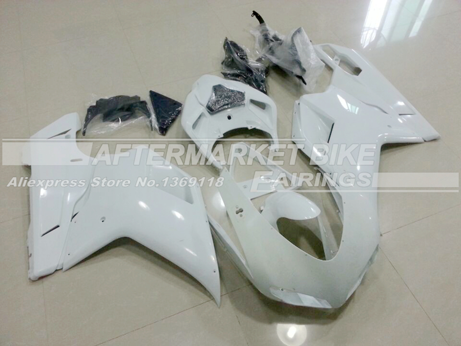 Complete Motorcycle Unpainted ABS Fairing Kit For DUCATI 848 1098 1198 2007-2012 Injection Moulding Blank Bodywork